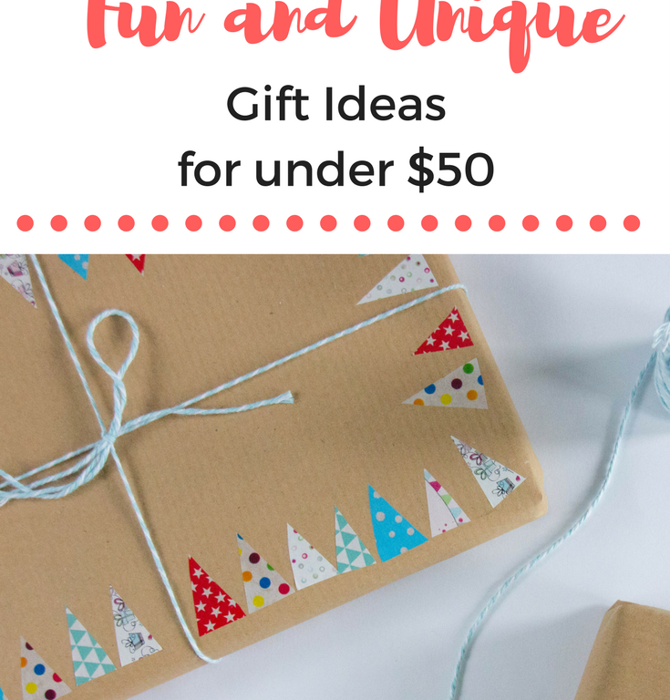 Unique gift ideas for under $50, with uncommongoods.com